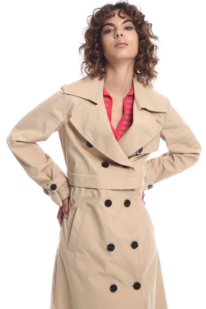 Modular cotton trench Intrend