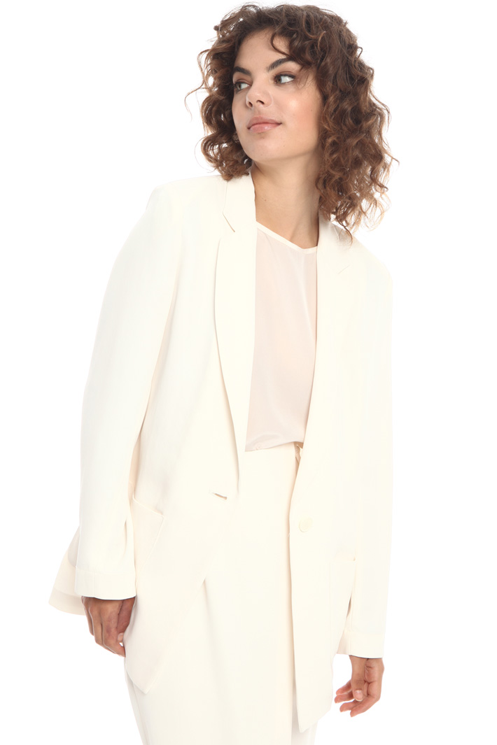 Unstructured twill blazer  Intrend