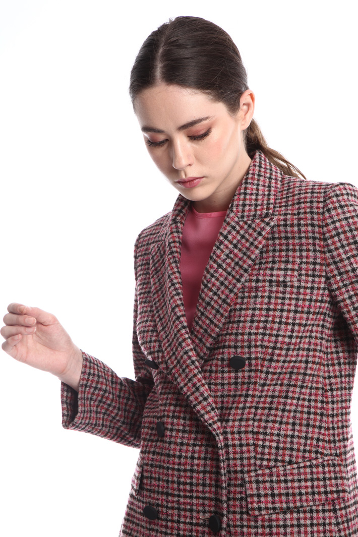 Double-breasted bouclé blazer Intrend