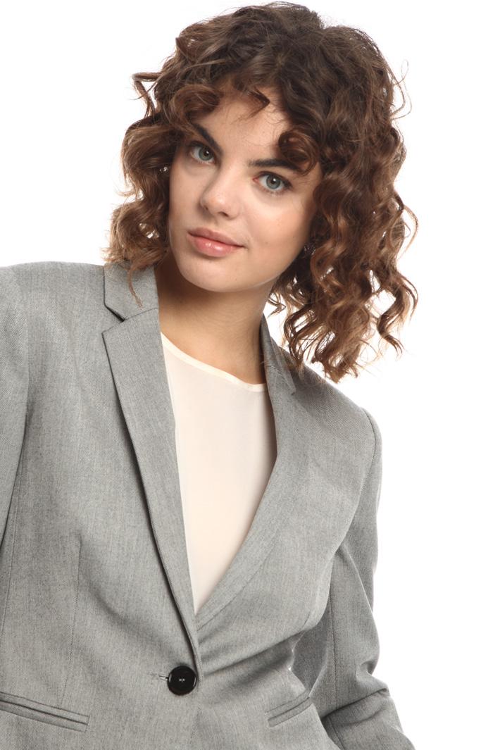 Yarn-dyed single-button blazer Intrend
