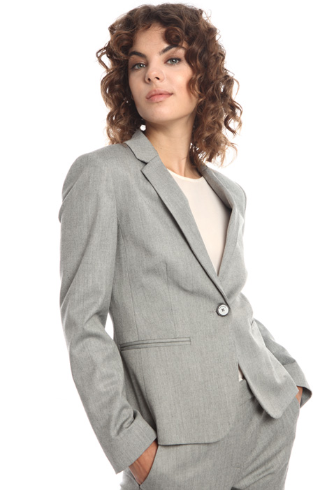 Yarn-dyed single-button blazer Intrend