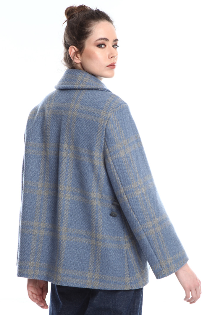 Yarn-dyed peacoat Intrend
