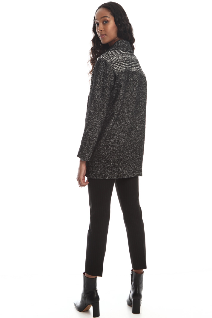 Yarn-dyed wool blend coat Intrend