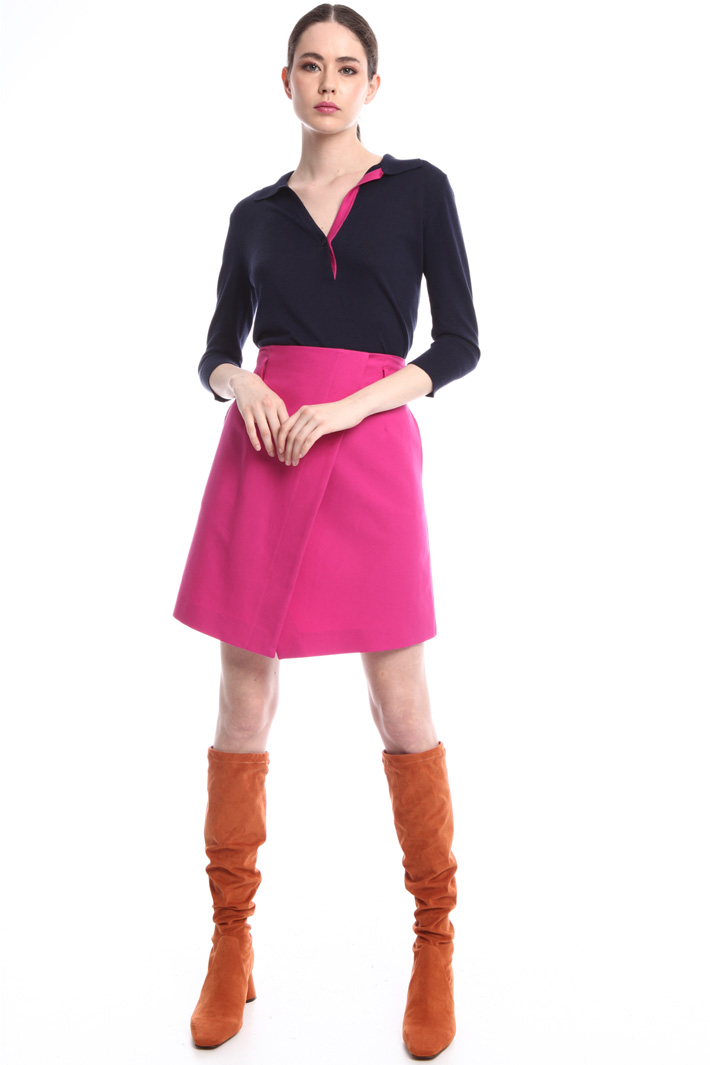 Wraparound mini-skirt   Intrend