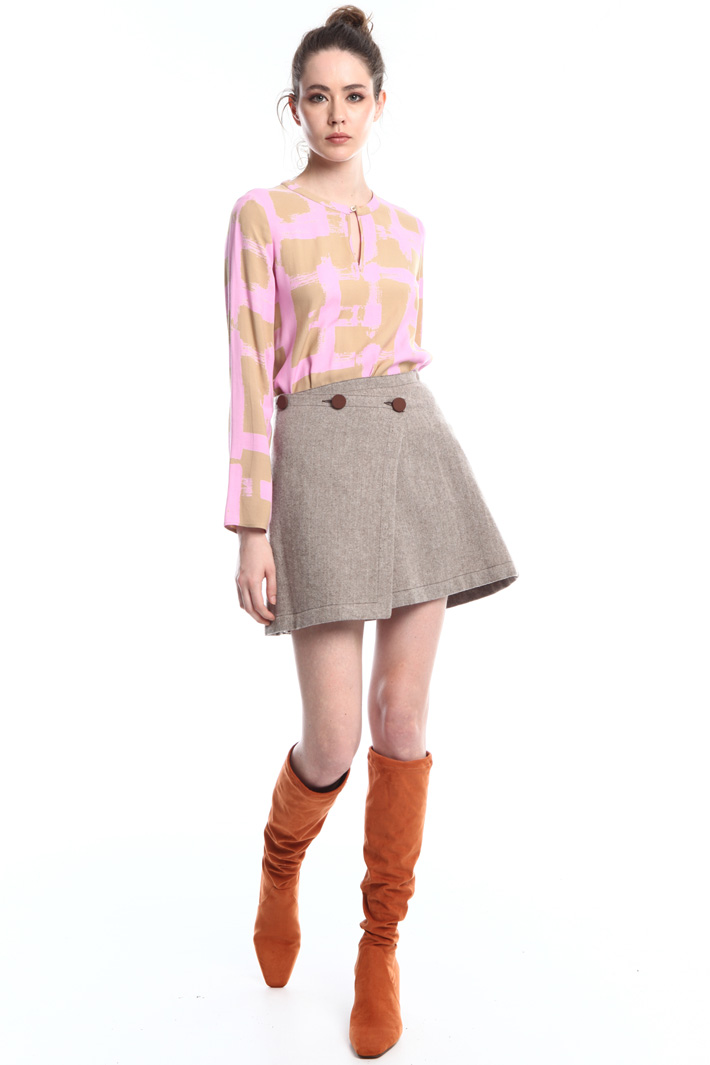 Wrap-up mini skirt Intrend