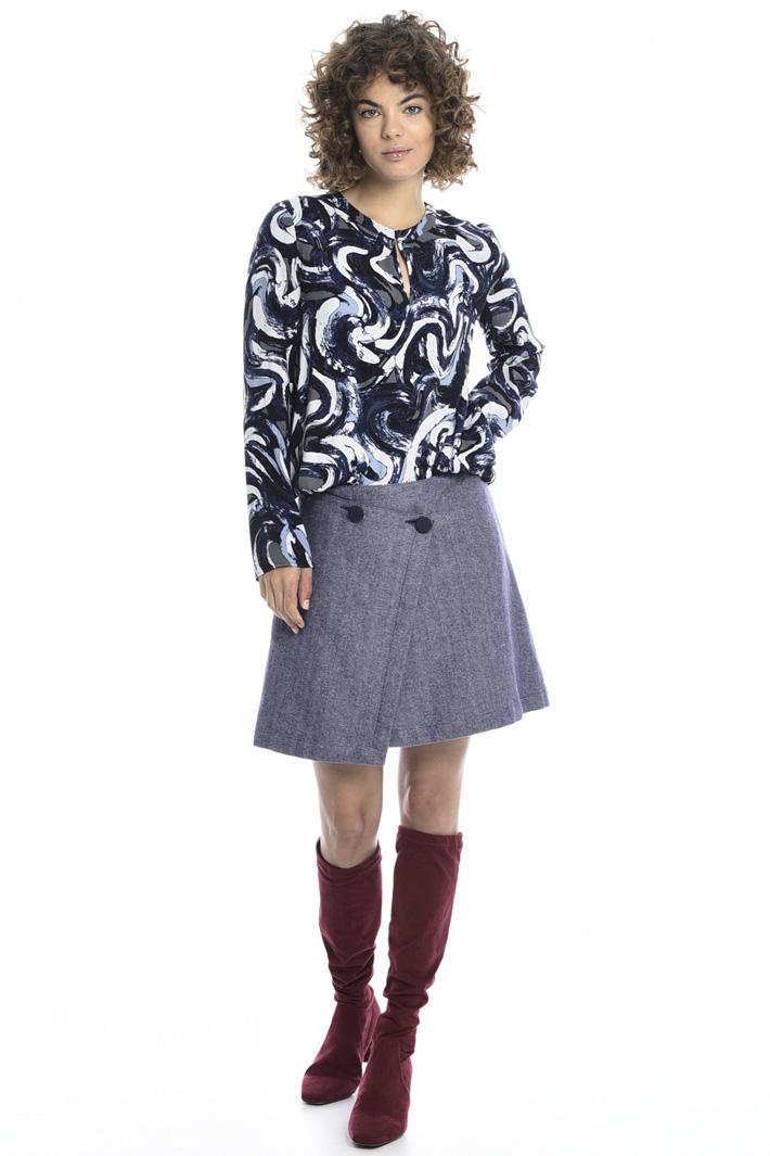 Wrap-up mini skirt Intrend