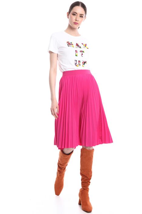 Pleated taffeta skirt  Intrend