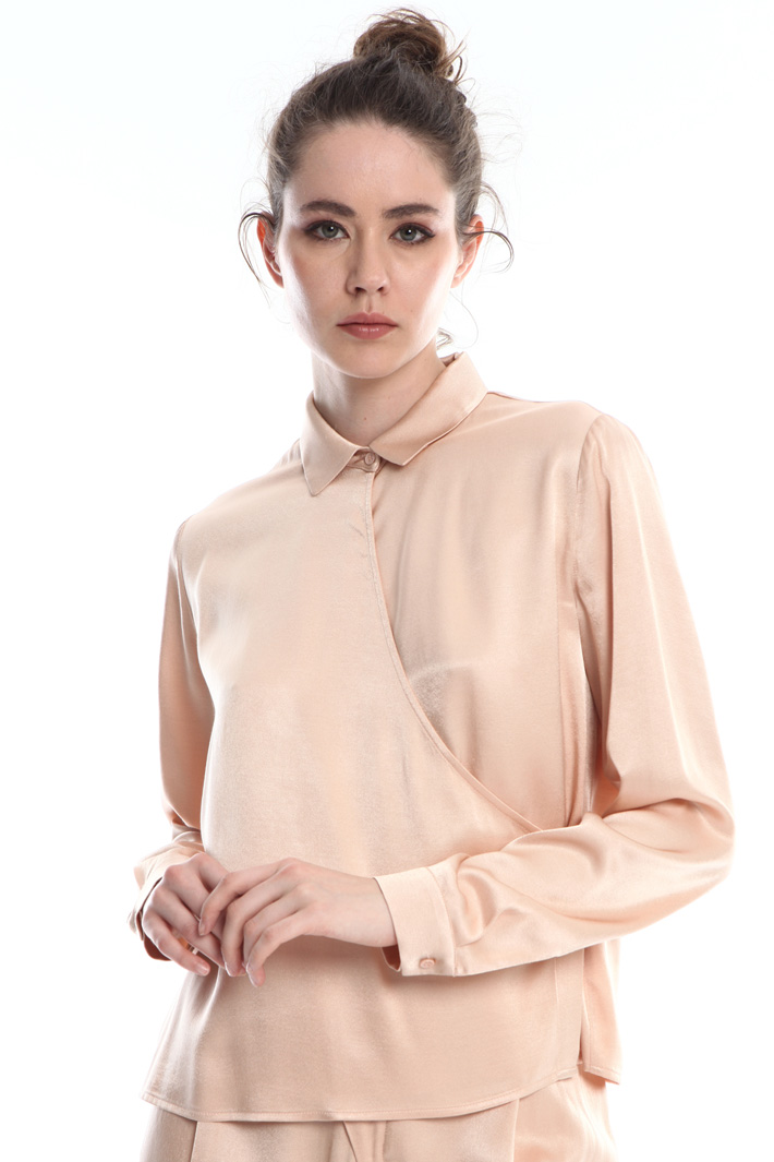 Satin wrap shirt Intrend