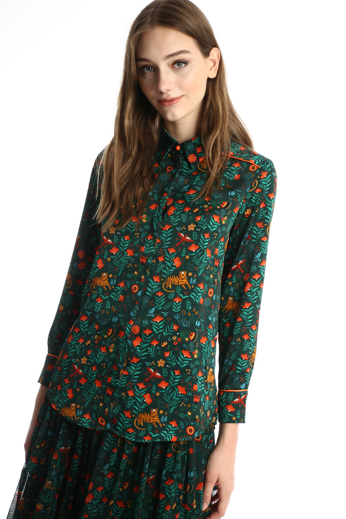 Fluid printed shirt Intrend