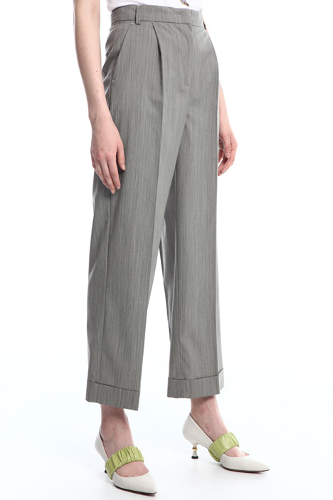 Pantaloni in lana stretch Intrend