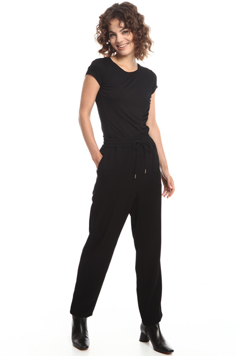 Jogging-style twill trousers  Intrend