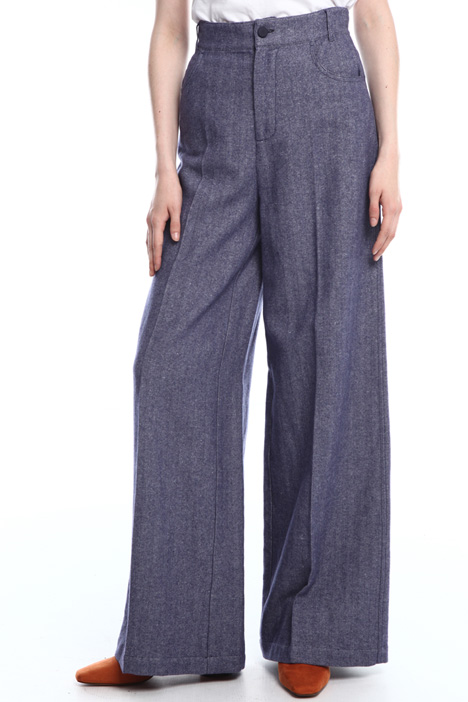 Wide-leg chevron trousers Intrend