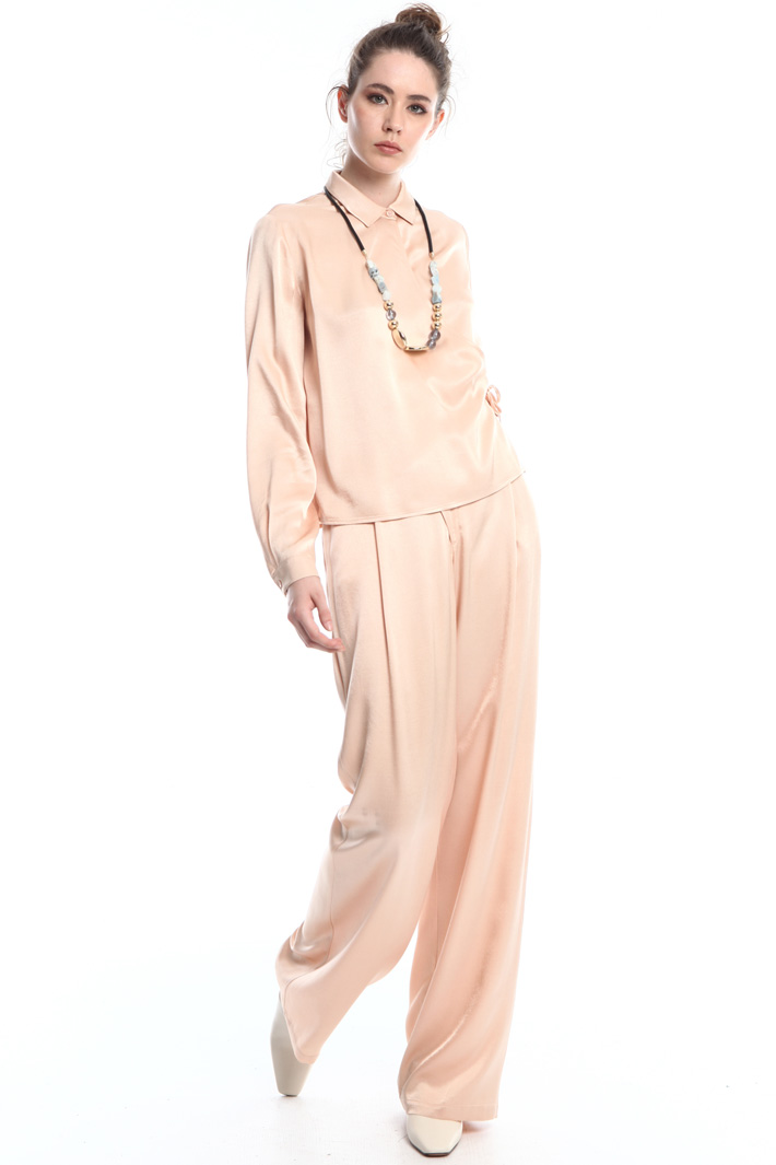 Palazzo trousers in satin Intrend