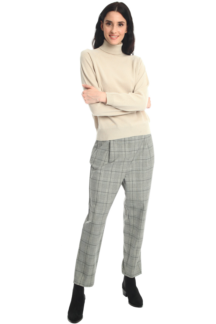 Yarn dyed canvas trousers Intrend