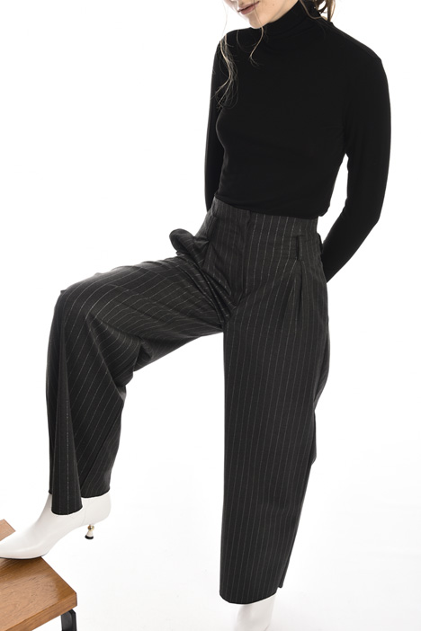 Yarn dyed palazzo trousers Intrend