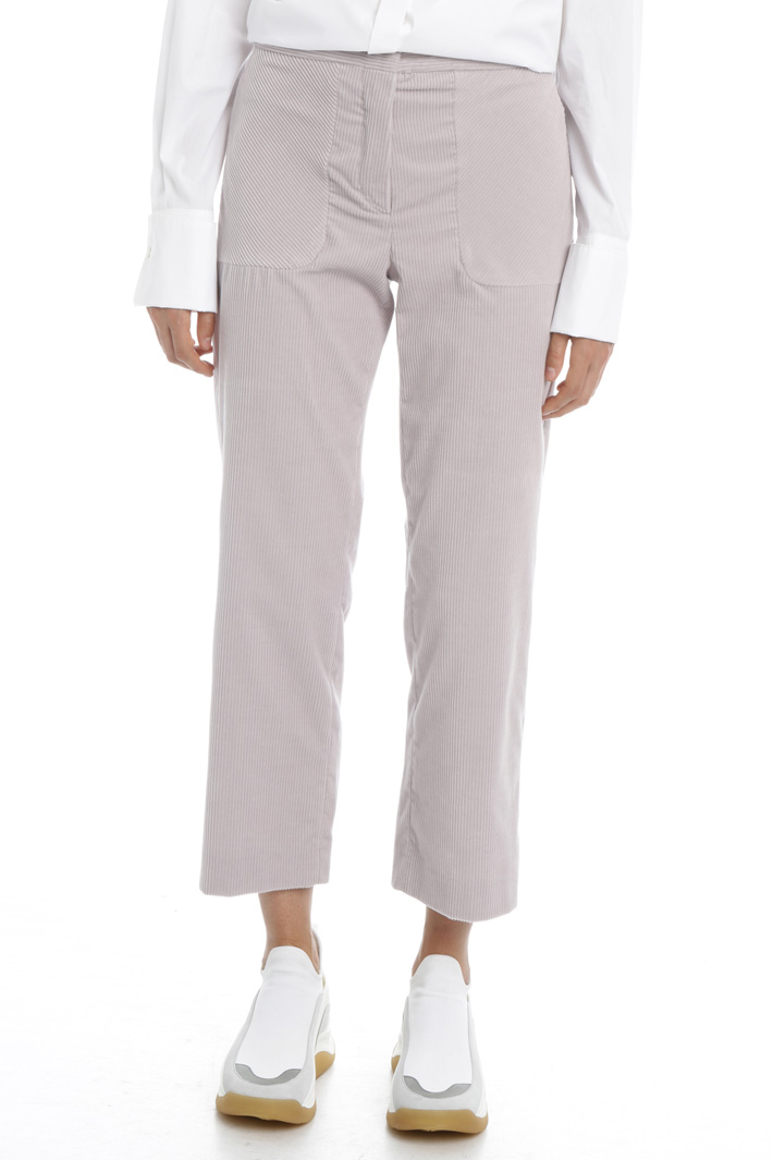 Crop-leg corduroy trousers Intrend