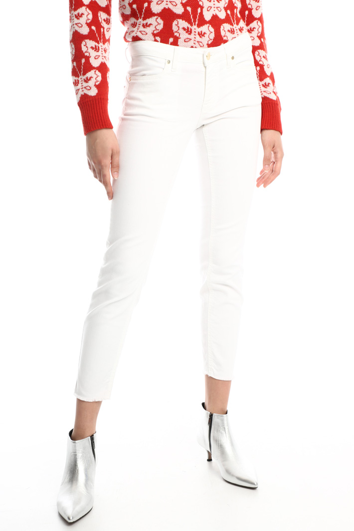 Fringed cotton trousers Intrend