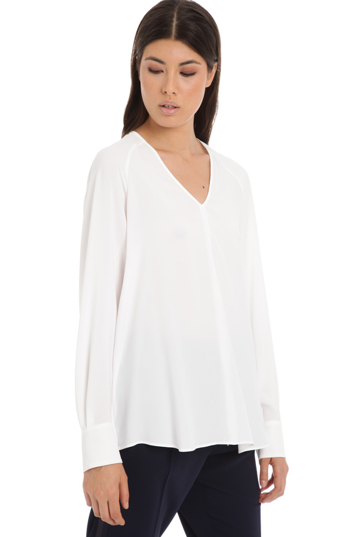 Relaxed fit silk tunic Intrend