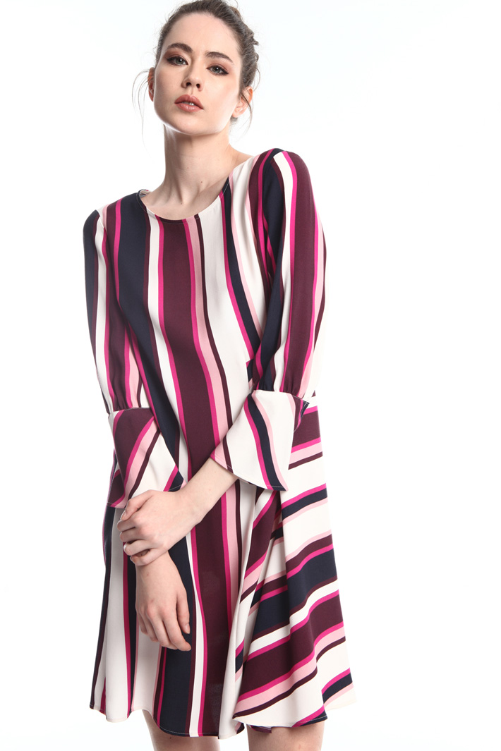 Striped viscose dress  Intrend