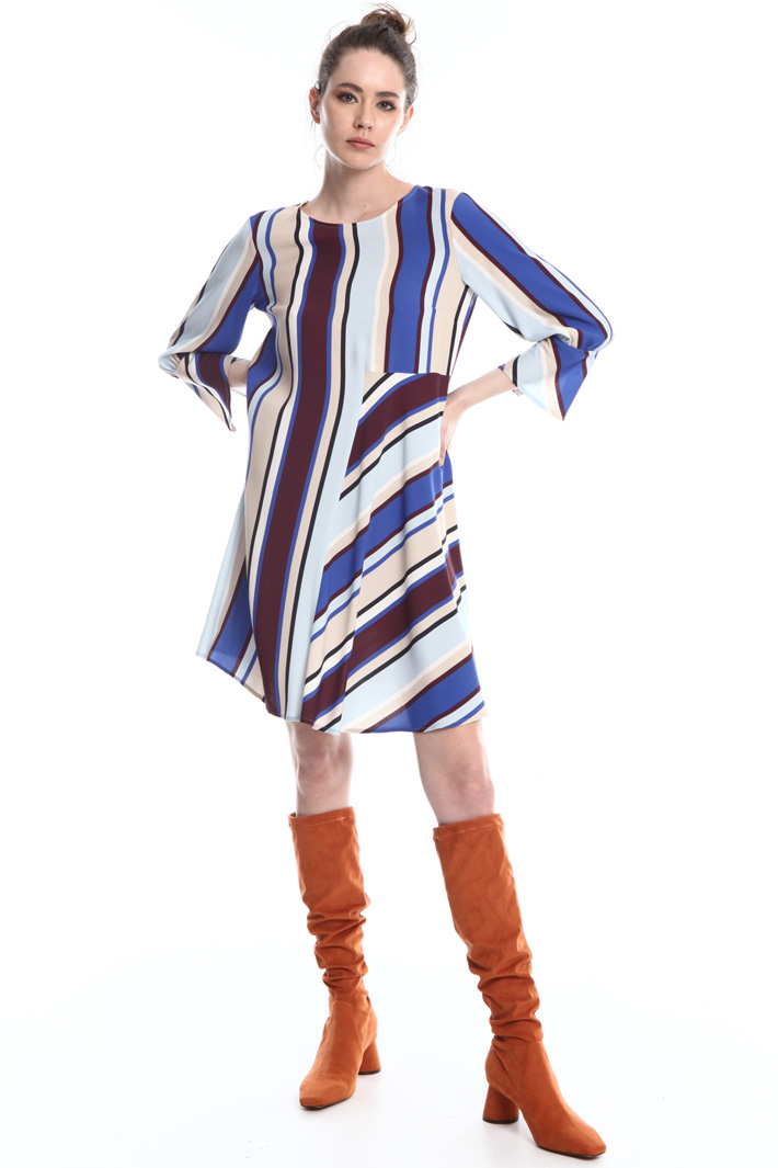 Striped viscose dress  Intrend