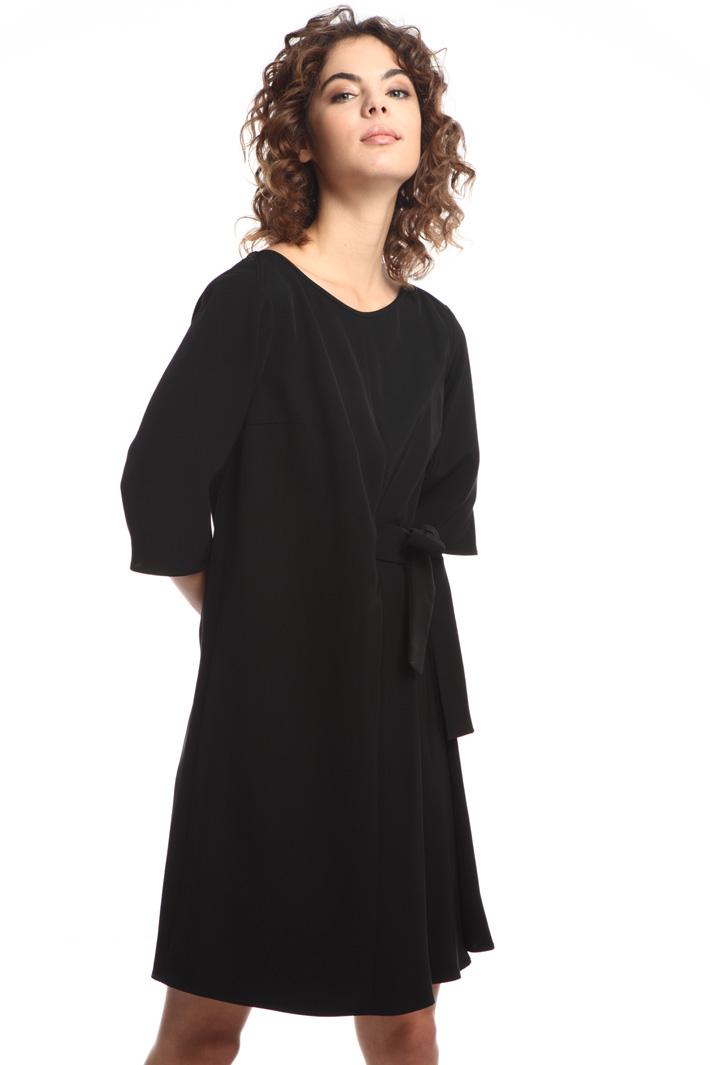 Flared twill dress  Intrend