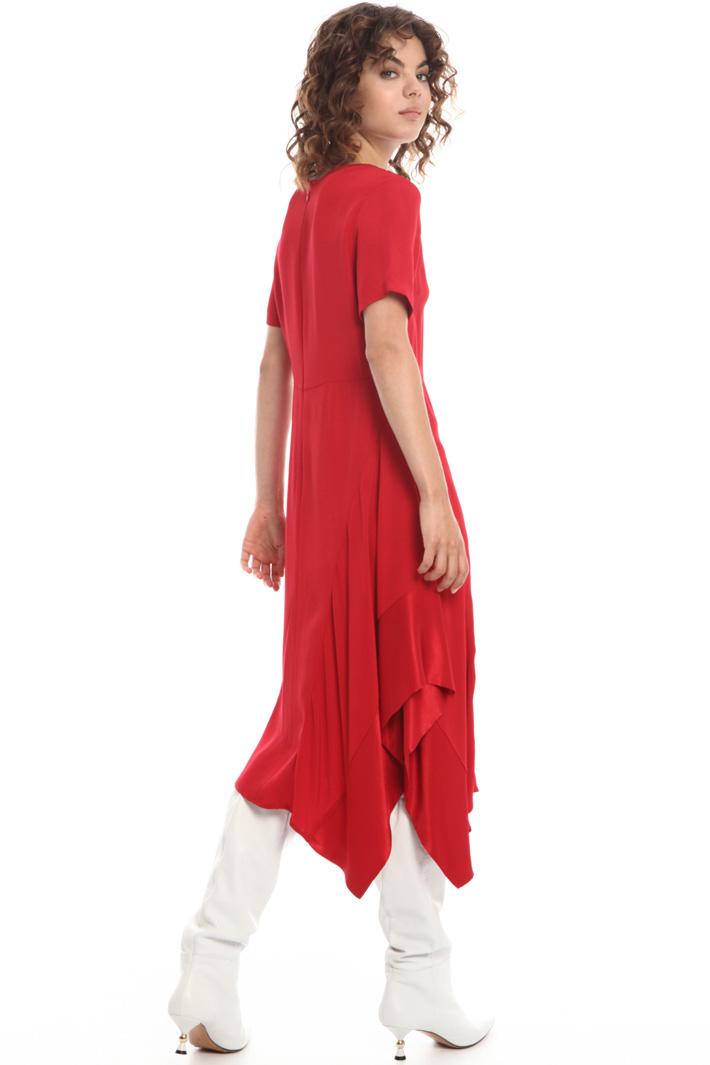 Asymmetric flared dress   Intrend