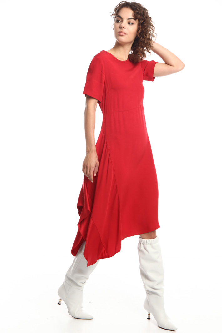 Asymmetric flared dress   Intrend