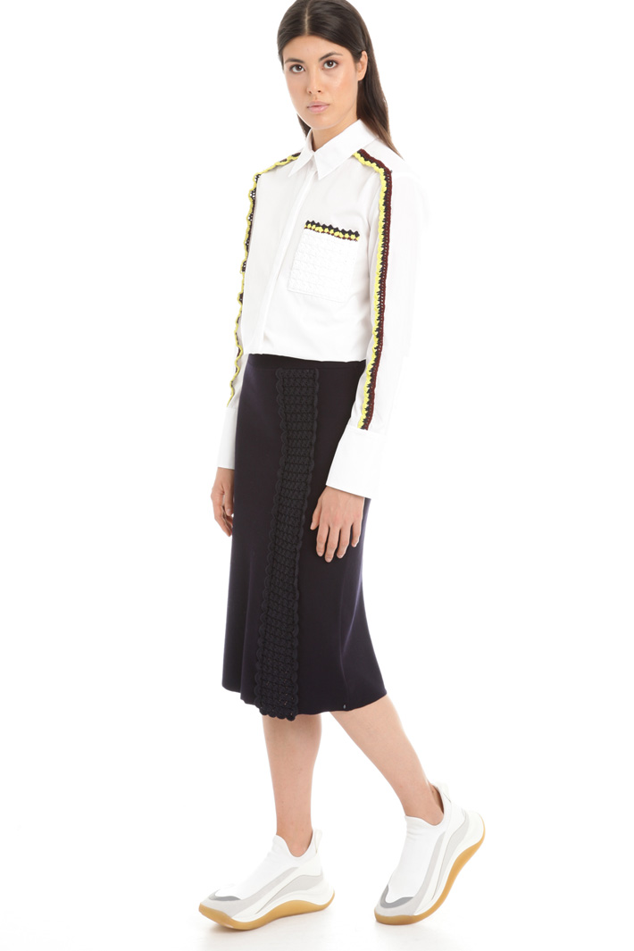 Knit embroidered skirt Intrend