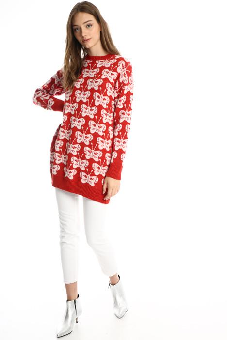 Mini-abito in maglia jacquard Intrend