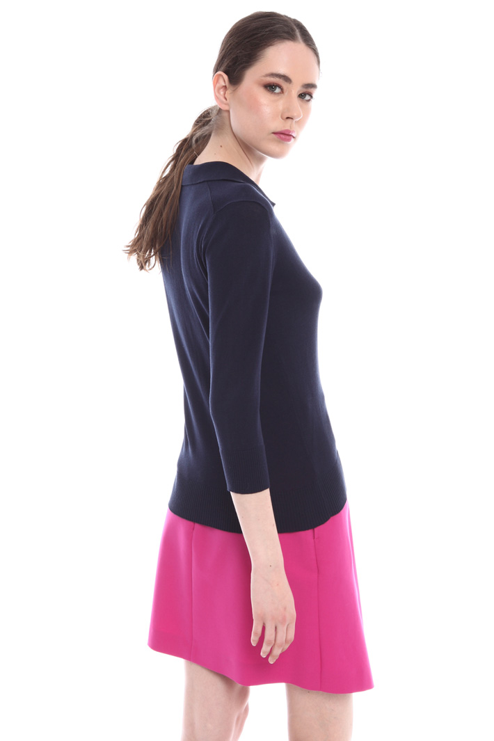 Silk and cotton polo shirt Intrend