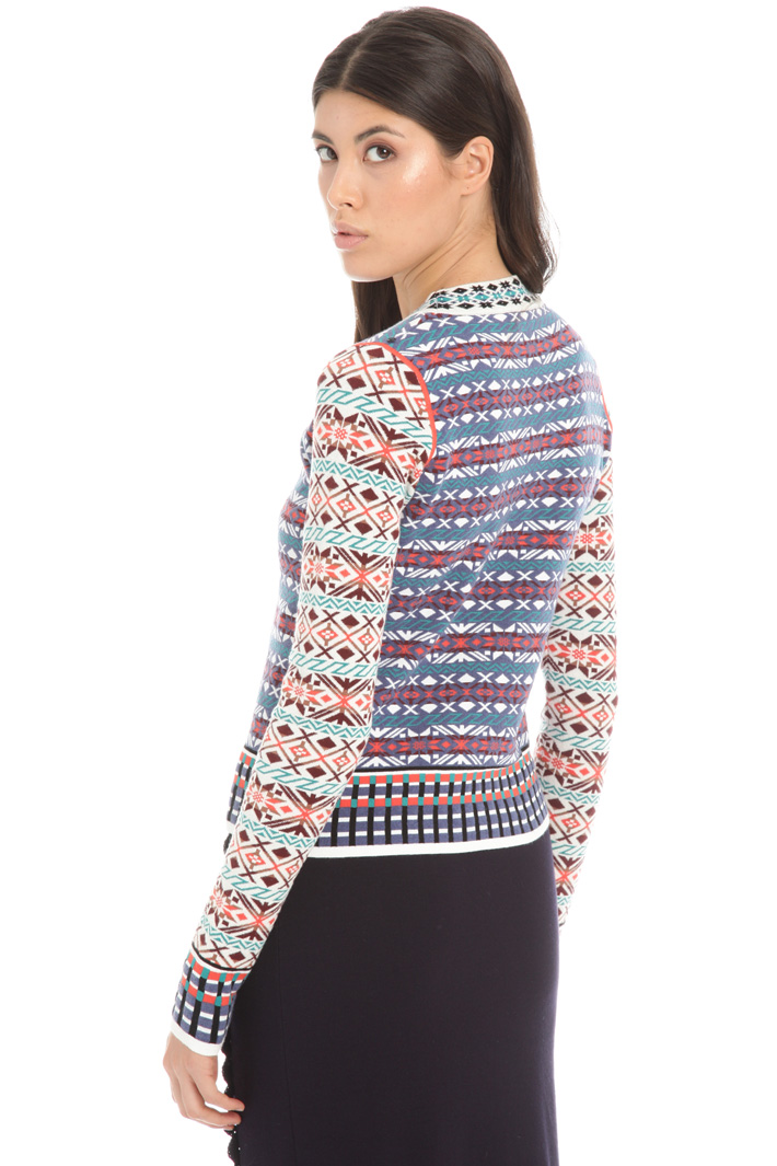 Jacquard knit sweater Intrend