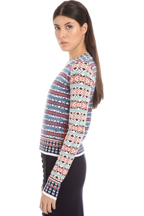 Jacquard knit sweater Intrend