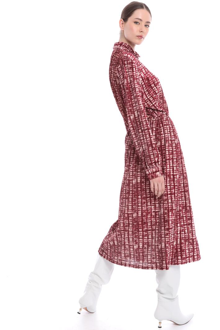 Velvet shirt dress Intrend