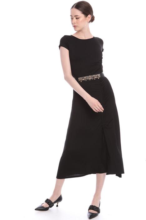 Asymmetric drape jersey dress  Intrend