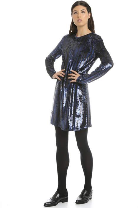 Long sleeve sequin dress Intrend