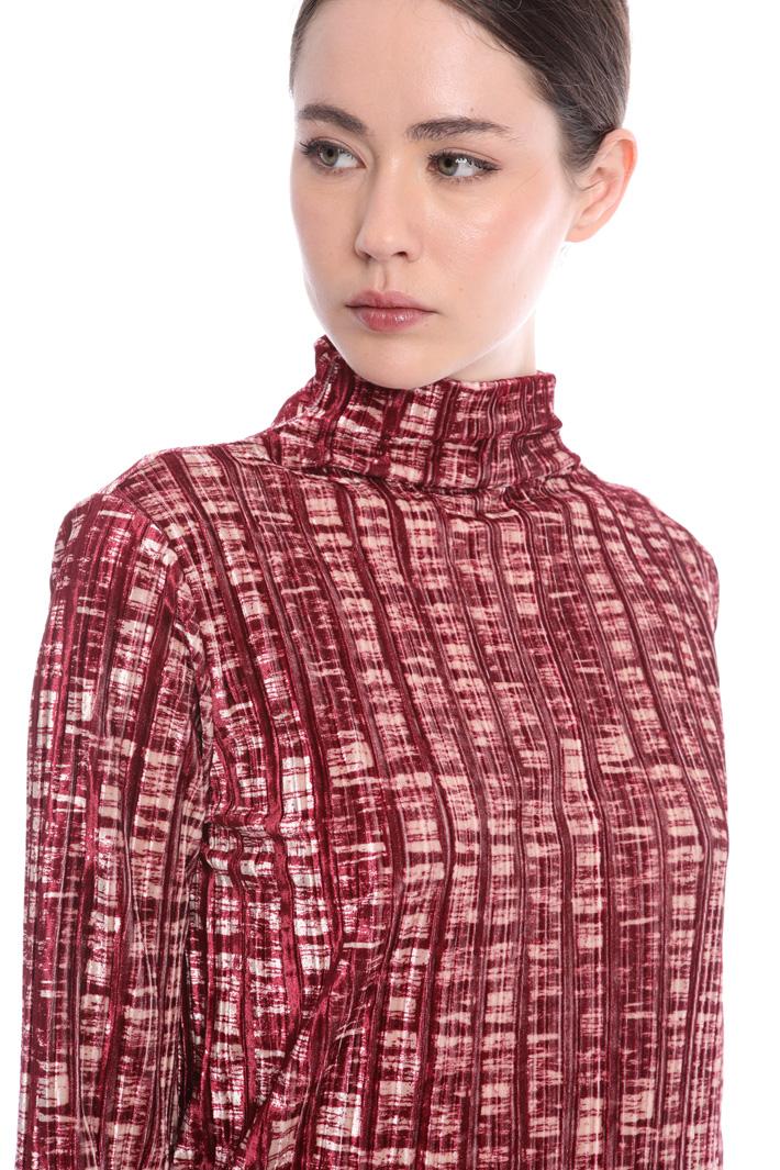 Velvet top and skirt Intrend