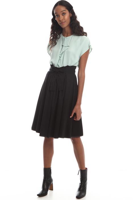 A-line cotton jersey skirt  Intrend