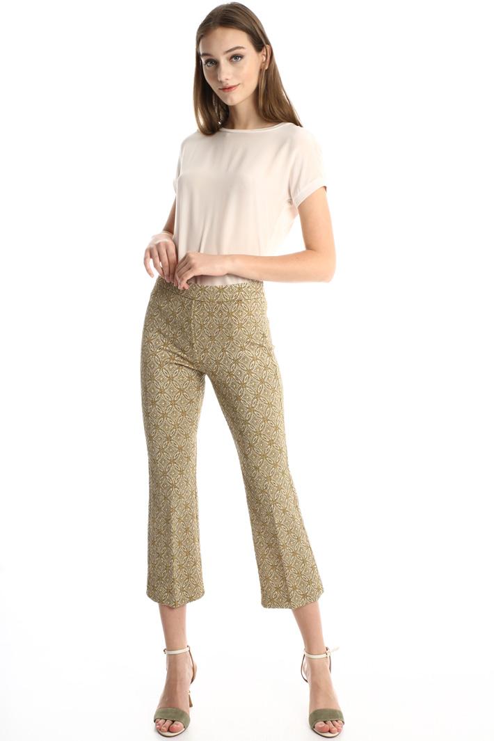 Crop lamé trousers Intrend