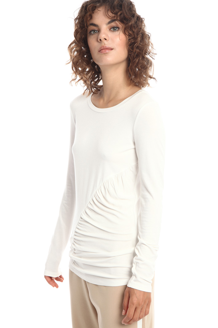 T-shirt with draped insert Intrend