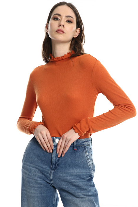 Jersey turtleneck sweater Intrend