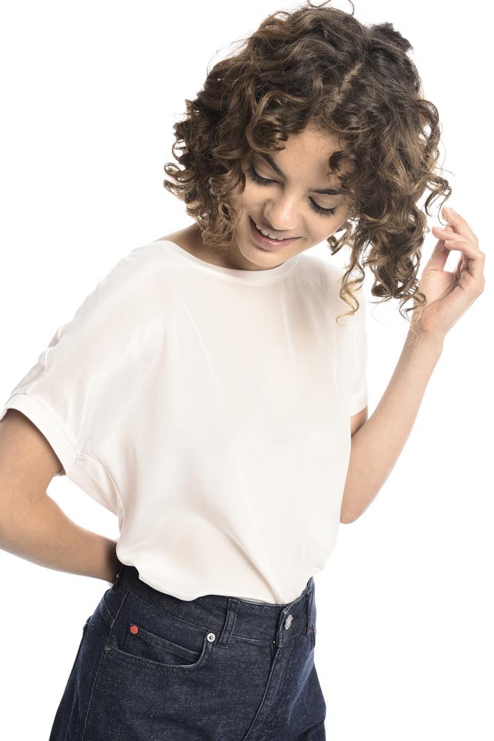 T-shirt di seta e jersey Intrend
