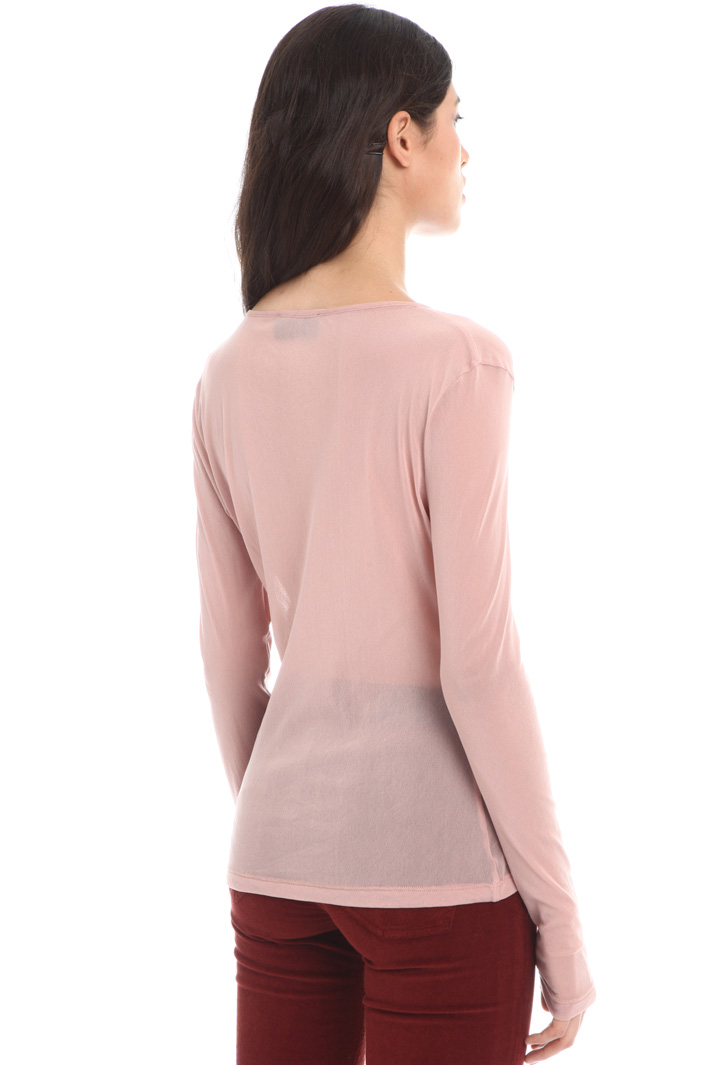 Gauzed jersey top Intrend