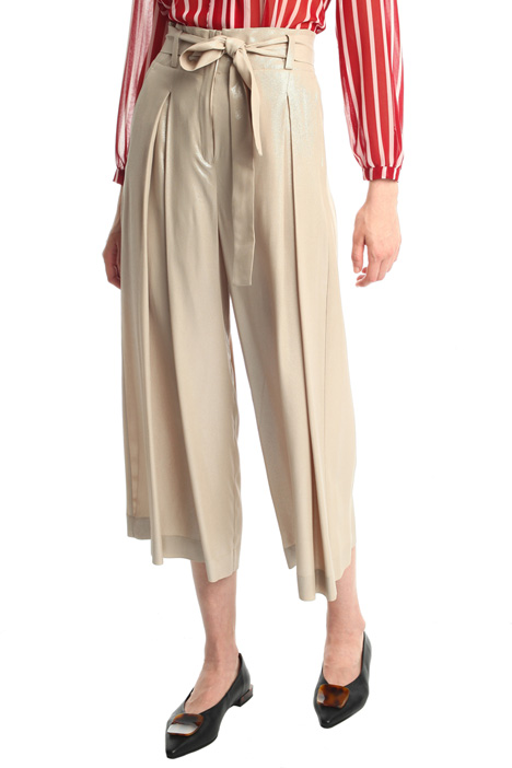 Pantaloni cropped in crêpe  Intrend