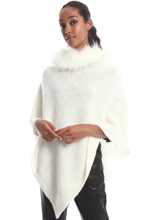 Poncho in misto lana Intrend