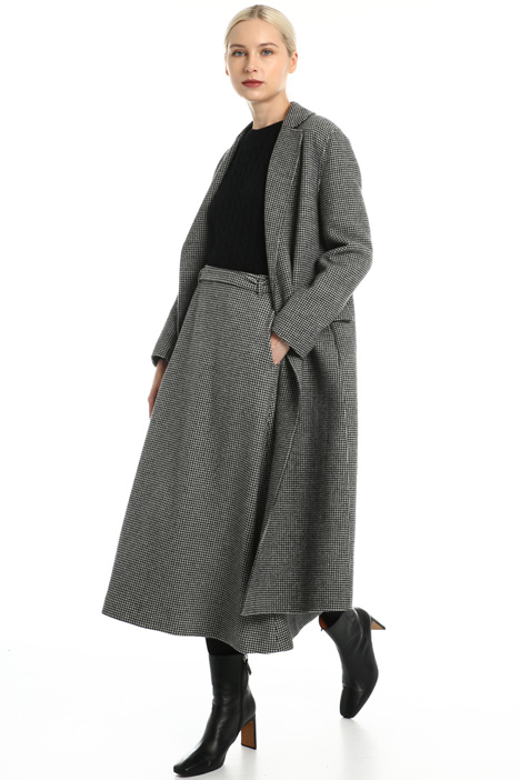 Yarn dyed wool coat Intrend