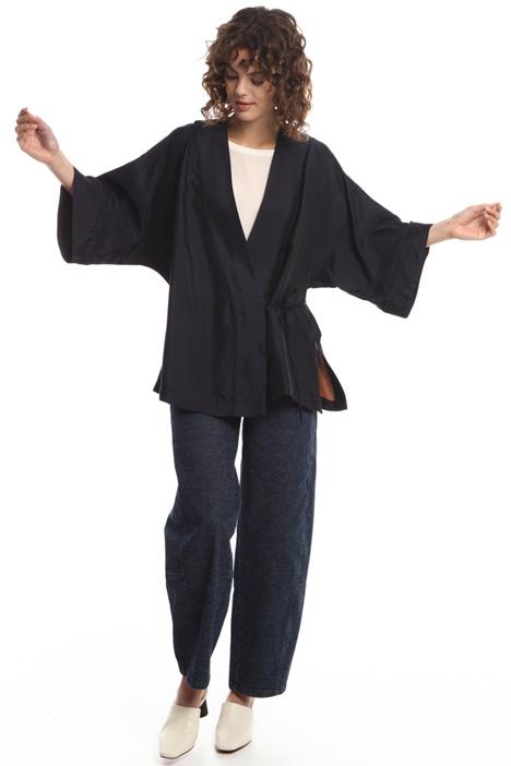 Kimono in viscosa con ricamo Intrend