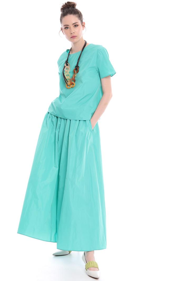 A-line skirt in taffeta  Intrend