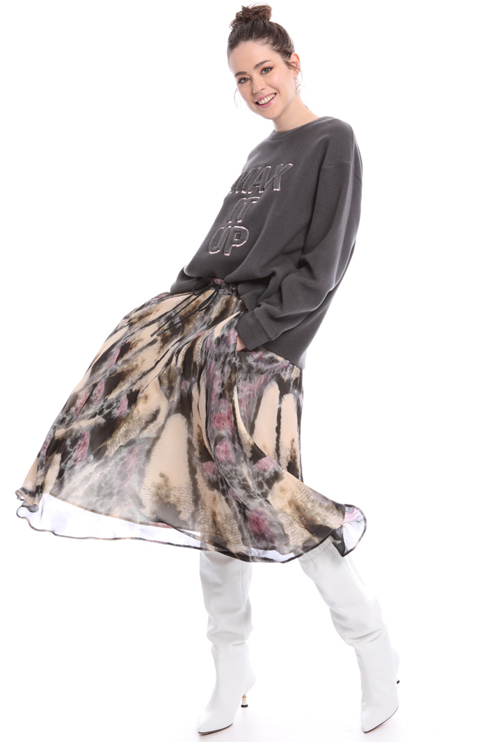 Fancy print skirt Intrend