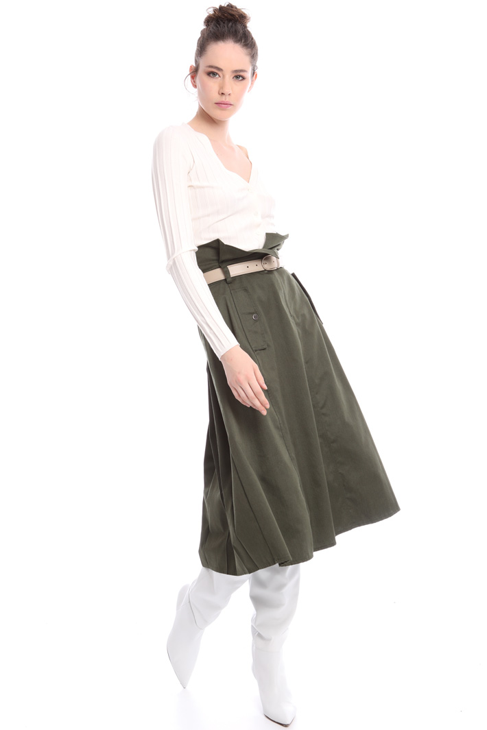 High waist cotton skirt Intrend