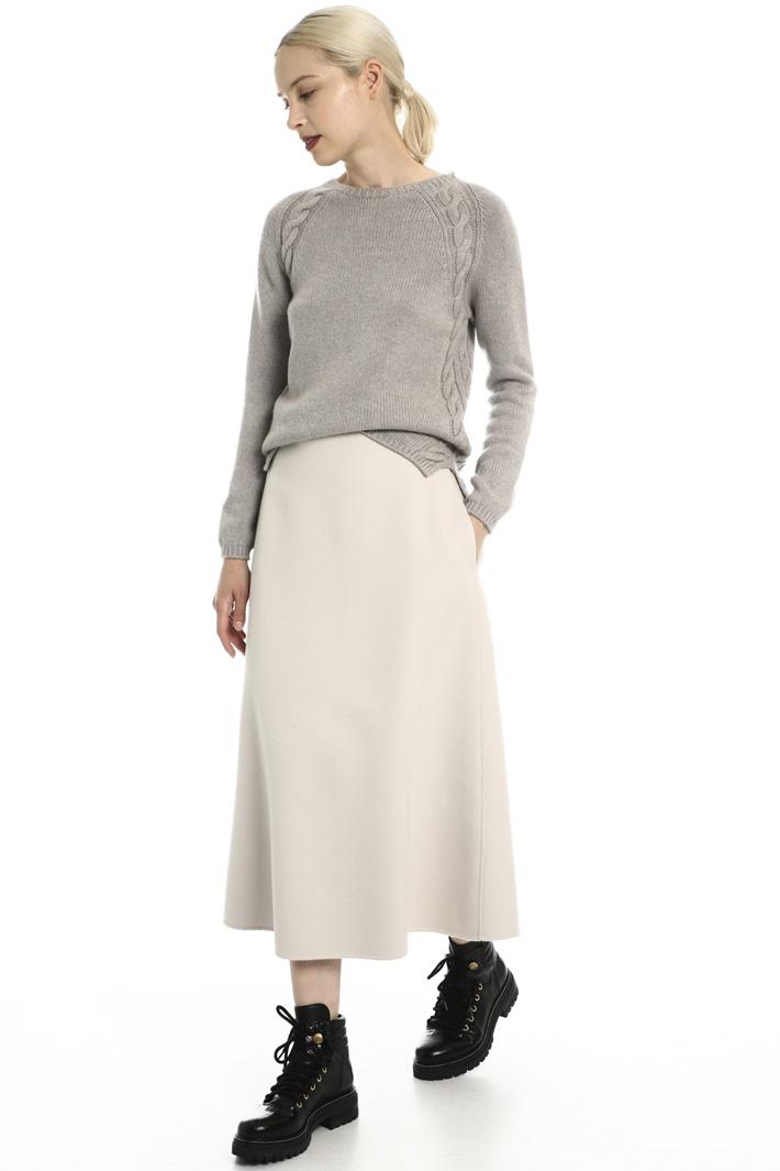Wool and angora skirt Intrend